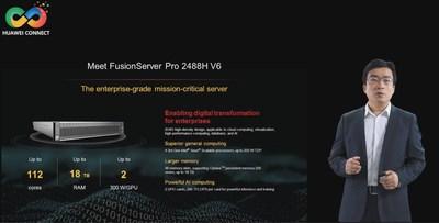 Lançamento do FusionServer Pro 2488H V6 (PRNewsfoto/Huawei)