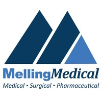 This is the MellingMedical M logo. MellingMedical is a leading federal supplier of medical supplies, surgical devices and pharmaceuticals to veterans. MellingMedical provides access to innovative and cost-effective healthcare solutions to all veterans nationwide. (PRNewsfoto/MellingMedical)