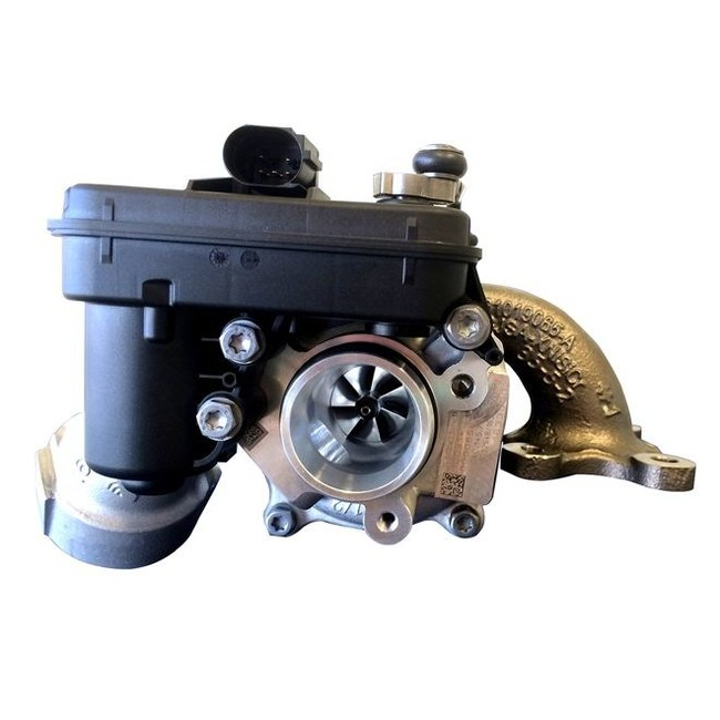 The BorgWarner turbocharger helps vehicle reduce emissions and fuel consumption.