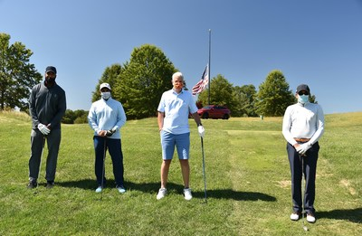 Golfers at the 17th Annual PenFed Foundation Military Heroes Golf Classic on September 21, 2020.