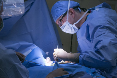 Dr. Harlan Grogin, electrophysiologist, performing surgery at Salinas Valley Memorial Healthcare System