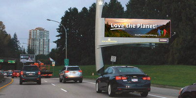 Ads appear on 7 billboards in Vancouver (simulation of billboard ad)