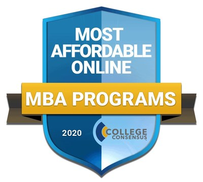 College Consensus Most Affordable Online MBA Programs 2020