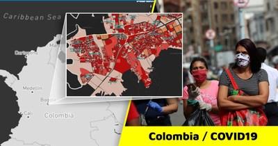 A COVID-19 heat map of Soacha, one of the principal municipalities of Cundinamarca.