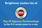 Brightway Insurance ranks among Insurance Journal's Top 20 Agency Partnerships seven years straight