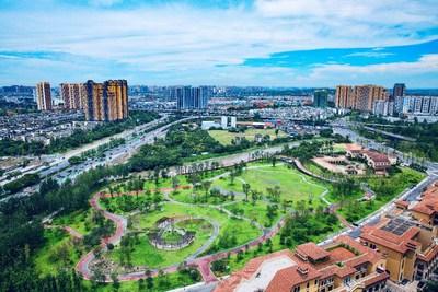 Chengdu, communauté de parc pittoresque et habitable (PRNewsfoto/National Business Daily (NBD))