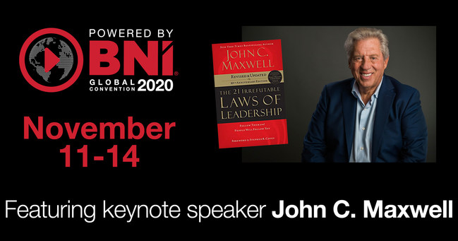 John C. Maxwell to headline BNI Global Convention 2020
