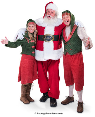 The Real-Bearded Santa with Lead Elves Carey and Dale Gruber at PackageFromSanta.com!