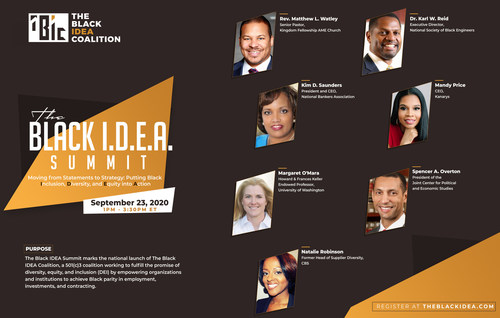 The Black IDEA Summit flyer.
