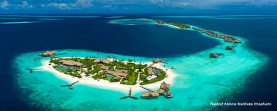 Descubra el paraíso en el Waldorf Astoria Maldives Ithaafushi rodeado de impecables horizontes donde el cielo se une con el mar. (PRNewsfoto/Hilton)