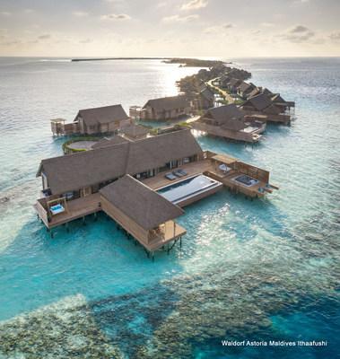 Absoluta privacidad garantizada, cada una de las 119 villas de lujo está ubicada estratégicamente para que no se interrumpa la vista hacia el mar cristalino. (PRNewsfoto/Hilton)