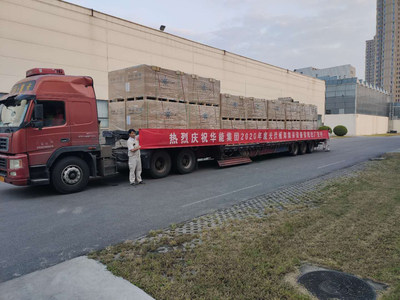 Solar modules delivered from the factory