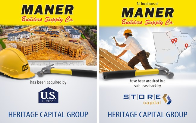 Maner Builders Supply Co. has been acquired by US LBM. All locations of Maner Builders Supply Co. have been acquired in a sale-leaseback by STORE Capital.