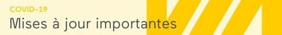 Mises à jour importantes (Groupe CNW/VIA Rail Canada Inc.)