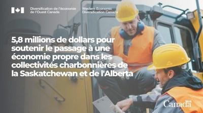 5.8 millions de dollars pour soutenir le passage à une économie propre (Groupe CNW/Diversification de l'économie de l'Ouest du Canada)