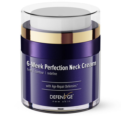 DefenAge® Launches A Fast Acting, Tightening 6-Week Perfection Neck Cream With Age-Repair Defensins