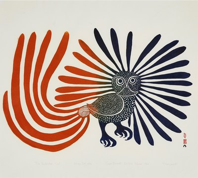 KENOJUAK ASHEVAK, THE ENCHANTED OWL, Price Realised $204,000 (CNW Group/Waddington''s Auctioneers)