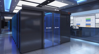 Abu Dhabi, Huawei FusionModule2000 Smart Modular Data Center.