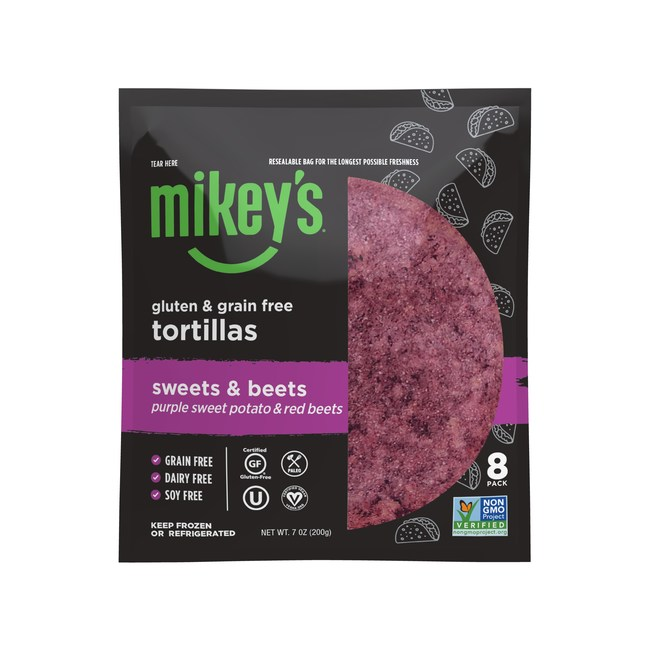 Mikey's Sweets & Beets Gluten and Grain-Free Tortillas
