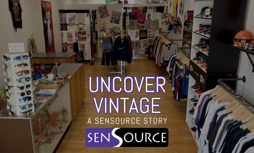 Boutique vintage clothing store, Uncover Vintage, partners with SenSource to monitor foot traffic.