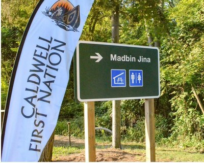 Caldwell First Nation and Point Pelee National Park unveil new name for existing Day Use Area: Madbin Jina, which means