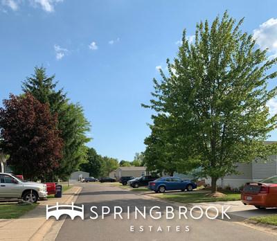 Springbrook Estates residents enjoy lush greenery throughout their community.