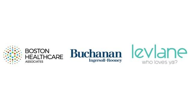 LevLane Teal Logo, Boston Healthcare Associates Logo, Buchanan Ingersoll & Rooney PC Logo