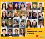 麥當勞/APIA獎學金計劃頒發50萬美元獎學金 協助亞洲和太平洋島民學生進入大學深造