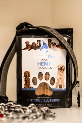 EmperorOne CBD Dog Treats keep dogs and owners stress free during the holidays.