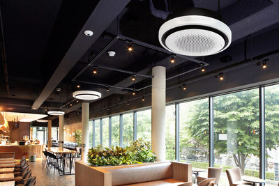 LG Round Cassette not only provides a luxurious design, but also covers large areas with flexible airflow.