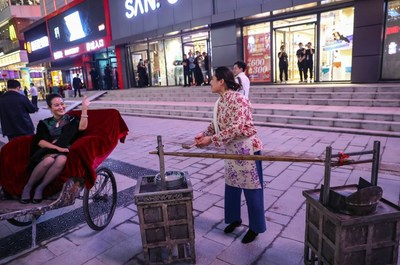 Shenyang Middle Street, una calle peatonal comercial en China con 400 años de historia, renueva su apariencia (PRNewsfoto/The Publicity Department of Shenhe District, Shenyang Municipality)