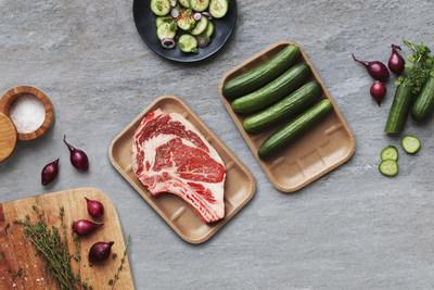 Barquette alimentaire en carton thermoformé 100 % recyclé et recyclable (Groupe CNW/Cascades Inc.)