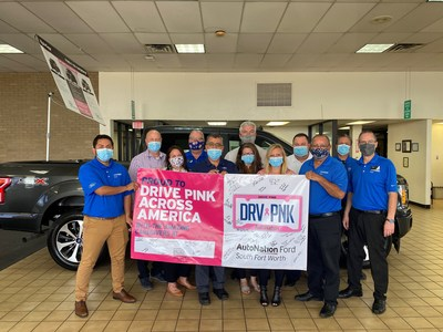 AutoNation celebrates DRV PNK Across America Day from coast to coast: AutoNation Ford South Fort Worth, Texas
