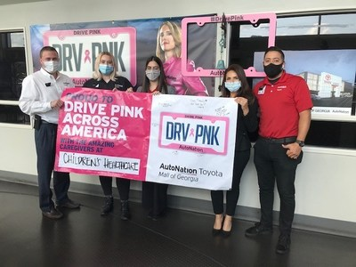 AutoNation celebrates DRV PNK Across America Day from coast to coast: AutoNation Toyota Mall of Georgia