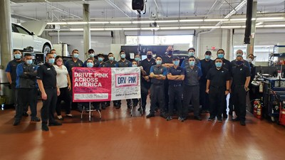 AutoNation celebrates DRV PNK Across America Day from coast to coast: AutoNation BMW of Buena Park, California