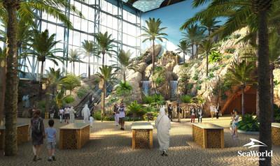 SeaWorld Abu Dhabi Entrance Render (PRNewsfoto/Miral, SeaWorld Parks & Entertainment)