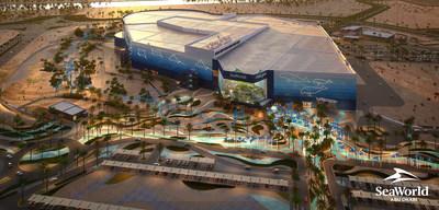 SeaWorld Abu Dhabi Aerial Render (PRNewsfoto/Miral, SeaWorld Parks & Entertainment)
