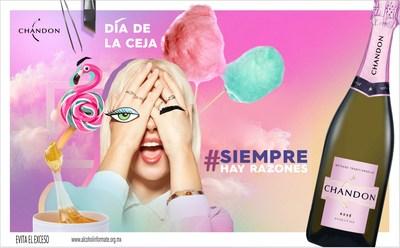 Chandon México lanza su nueva etiqueta Chandon Rosé, celebrando «El Día de la Ceja»