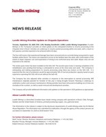 Lundin Mining Provides Update on Chapada Operations (CNW Group/Lundin Mining Corporation)