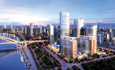 The One East complex, acquired by Brookfield in 2019, will be a new landmark in Huangpu district. CHINA DAILY