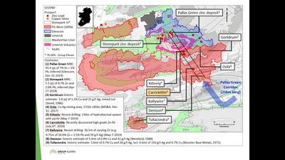 Exhibit 1. Location of the Carrickittle Prospect within the 100%-owned PG West Project, Ireland (CNW Group/Group Eleven Resources Corp.)