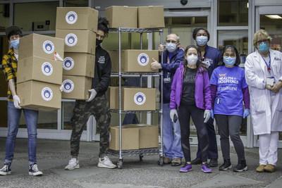 JPO Concepts Team Delivering Meals to Elmhurst Hospital