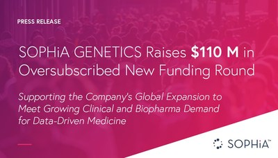 SOPHiA GENETICS Raises $110 Million in Oversubscribed New Funding Round