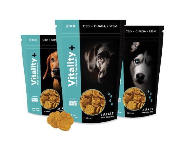 LiefMed Pet Wellness Chews made with water-soluble hemp