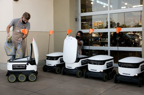 The Save Mart Companies launches robotic on-demand grocery delivery service at its flagship Save Mart store in Modesto, California.