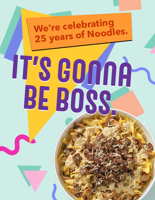 Noodles & Company kicks off 25th anniversary celebration on National Noodle Day with throwback pricing and free delivery for 25 days.