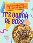 Noodles & Company Kicks Off 25th Anniversary Celebration on National Noodle Day with Throwback Pricing and Free Delivery for 25 Days