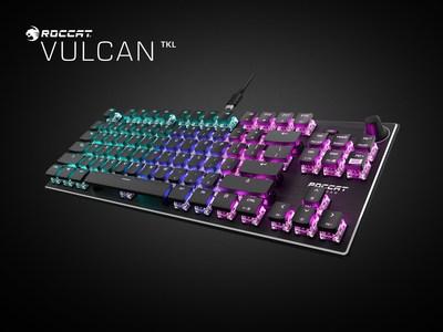 ROCCAT's award-winning Vulcan mechanical gaming keyboard is re-imagined in a tenkeyless form factor in the Vulcan TKL.