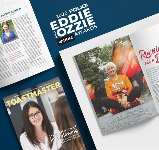 Toastmaster Magazine Wins Three Folio Awards