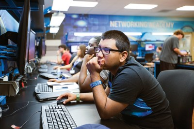 A Learn4Life student in the IT career technical education pathway